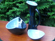 Rörstrand California                           Carl Harry Stålhane 1952 one vase and two                           bowls
