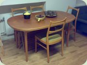 50's dining table & chairs by Bertil Fridhagen, Bodafors