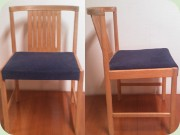 Swedish oak dining chairs, Bertil Fridhagen, Bodafors