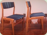 Danish chairs, blue fabrik