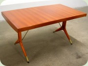 David Rosen Napoli Swedish 50's dining table by Westbergs Furniture Tranås