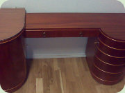 1940's mahogany dressing table with cabinets