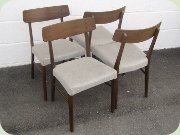 Danish 60's walnut dining chairs mod 232 by Farstrup