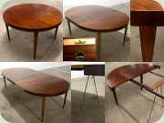 Danish 60's rosewood dining table by Haslev, probably designed by Severin Hansen Jr