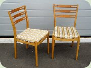 A pair of IKEA Klint chairs, Danish 60's design