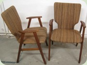 A pair of Swedish 50's or 60's armchairs