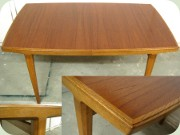 Swedish 50's or 60's teak & oak dining table, probably by Bertil Fridhagen Bodafors