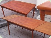 Danish 50's teak dining table by Henning Kjaernulf, Vejle Stolefabrik