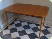 Teak dining table, probably IKEA Monaco 1960