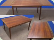 Danish 50's teak extendable dining table