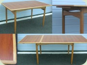 Swedish 50's or 60's teak and oak dining table by Seffle Möbelfabrik