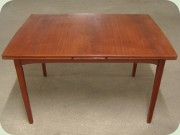 Scandinavian 60's teak extending dining table