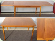 Swedish 60's teak                           dining table with Dutch leaves