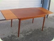 Swedish 60's extendable dining table by Rosendals, Rottne