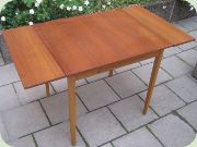 Swedish 60's teak dining table with extension leaves