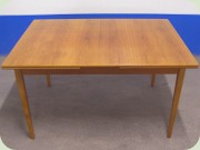 Swedish 50's or 60's teak expanding dining table