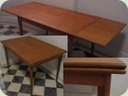 50's Danish design teak extendable dining table