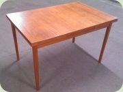 50's teak rectangular dining table with leaves
