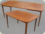 Swedish 50's pr 60's teak dining table with leaves