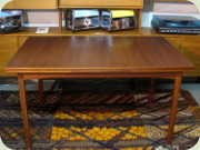 Swedish 60's teak                           dining table with Dutch leaves Ulferts Tibro