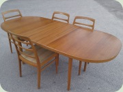 Bertil Fridhagen, Bodafors, Reno 50's teak & oak oval dining table and chairs