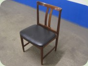 60's dark teak stained dining chairs
