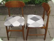Set of 6 teak & beech dining chairs Danish design 50's or 60's design
