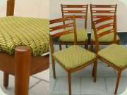 60's teak & teak stained beech dining chairs IKEA Klint Della Danish design