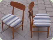 Four Swedish dining chairs, early 60's by Tage Olofsson, Ulferts Tibro
