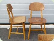 A pair of Swedish 60's chairs by Nesto Nässjö Stolfbrik 1963