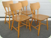 Swedish 50's chairs by Nesto Nässjö Stolfabrik