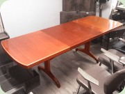 Mahogany dining table with extension leaves, NK Futura, David Rosén.