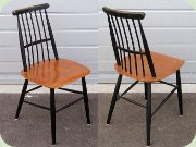 50's or 60's teak & black spindle back chair