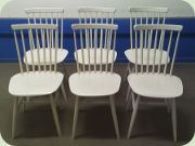 White rib back chairs from Edsbyverken Edsbyn, Sweden