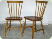 A pair of Swedish 50's or 60's birch and teak chairs by Nesto Nässjö Stolfabrik