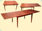 Swedish 50's extendable dining table, Skaraborgs Möbelindustri, Tibro