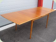 Swedish 50's teak & oak extendable dining table