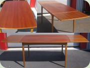 Late 50's or early 60's expandable teak dining table