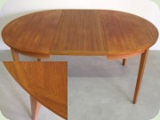 Swedish 60's round teak dining table by Ulferts Tibro