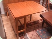 Teak gate leg table