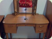 Swedsih teak dressing table with folding mirrors