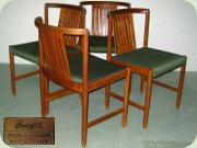 Set of four Swedish 60's teak side chairs by Bertil Fridhagen Bodafors