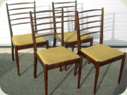 Four elegant stained                           birch chairs