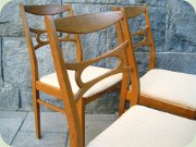 Set of four Swedish                           50's oak dining chairs