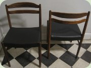 Swedish 60's rosewood dining chair by Albin i Hyssna. Re-upholstered in black vinyl