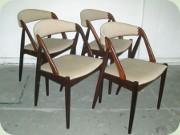 Set of 4 Danish design rosewood chairs Kai Kristiansen mod #31