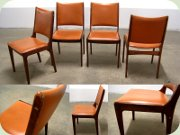 Set of four Danish 60's rosewood dining chairs