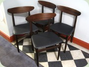 Set of four 60's Danish design rosewood dining chairs