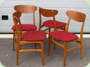 Swedish 60's teak & oak dining chairs