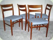 Scandinavian teak dining chairs